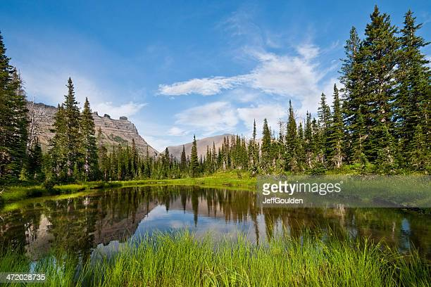 Mountains Reflected in an Alpine Lake