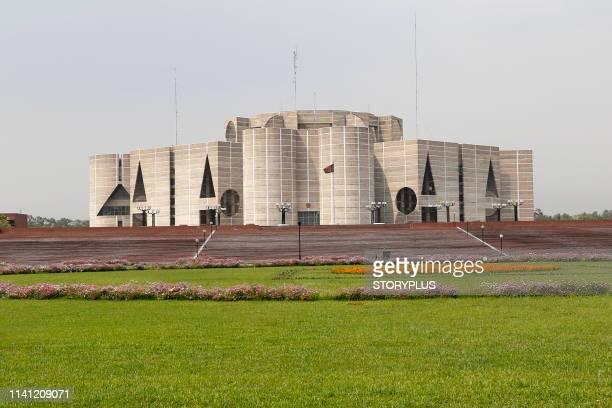 national parliament house bangladesh - bangladesh stockfoto's en -beelden