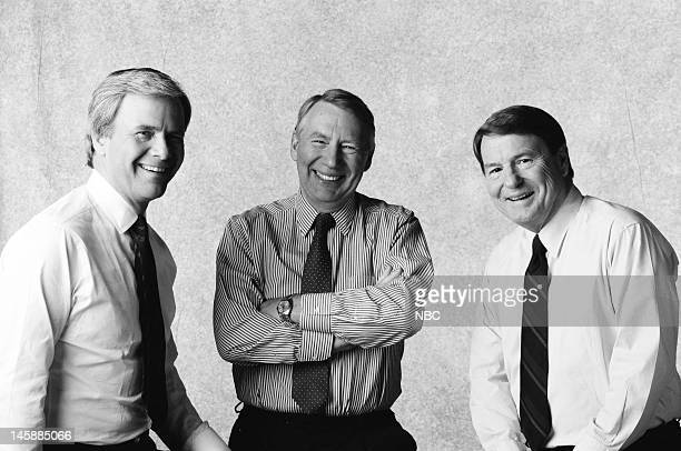 NBC NEWS 1992 National Party Convention Coverage Pictured NBC News' Tom Brokaw PBS' Robert MacNeil PBS' Jim Lehrer of The MacNeil/Lehrer Report join...