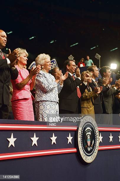 National Party Conventions 1992 Republican National Convention Pictured The Bush Family unknown unknown First Lady Barbara Bush unknown Sharon Bush...