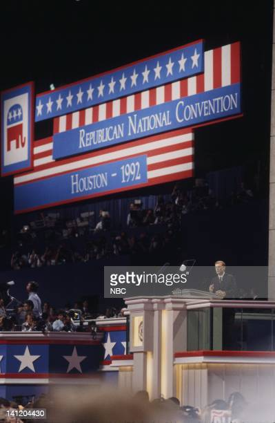 National Party Conventions 1992 Republican National Convention Pictured Incumbent Vice President Dan Quayle during the 1992 Republican National...