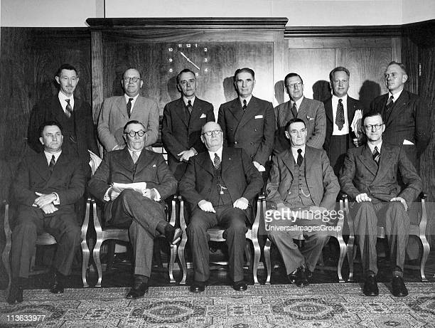 National party Government of South Africa Prime Minister Magnus Malan seated centre