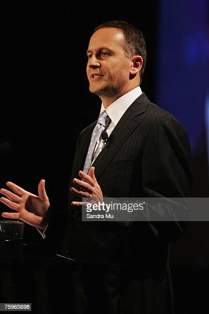 National Party Leader John Key speaks at the National Party Annual Conference at the Langham Hotel August 05 2007 in Auckland New Zealand