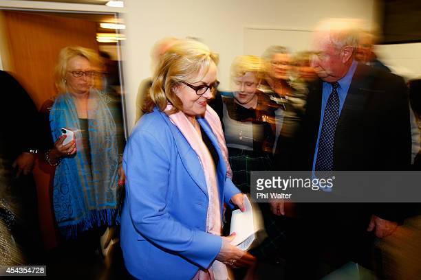 National Party MP Judith Collins arrives to make a statement to media following her resignation on August 30, 2014 in Auckland, New Zealand....