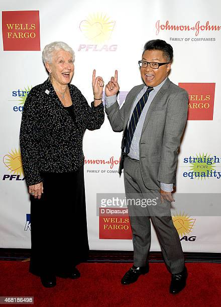 National PFLAG President Jean Hodges and actor Alec Mapa attend the 7th Annual PFLAG National Straight For Equality Awards Gala at The New York...