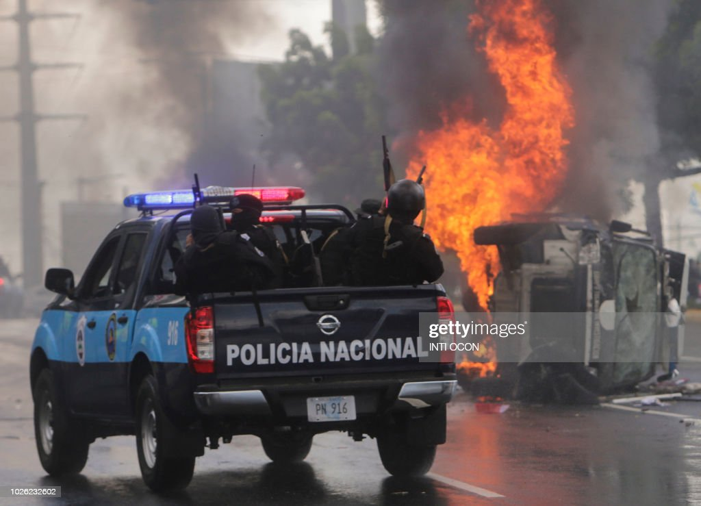 TOPSHOT-NICARAGUA-UNREST-OPPOSITION-PROTEST : News Photo