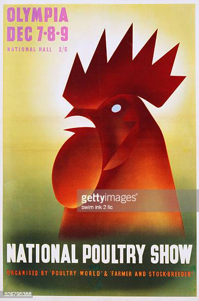 National Poultry Show Poster with a Rooster