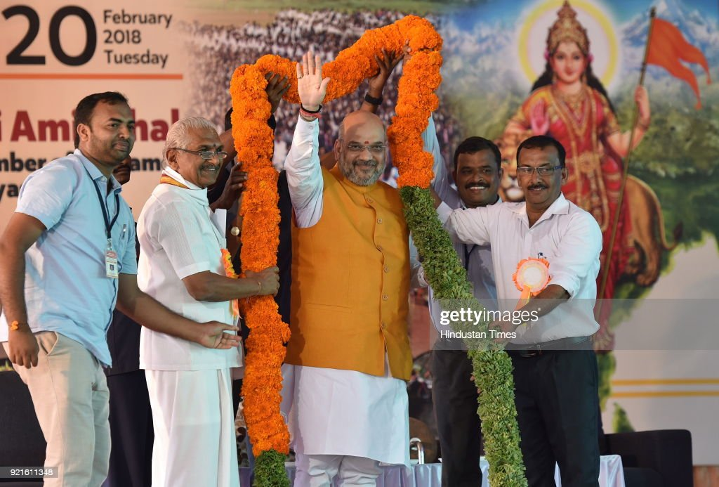 BJP President Amit Shah In Karnataka For Election Campaign