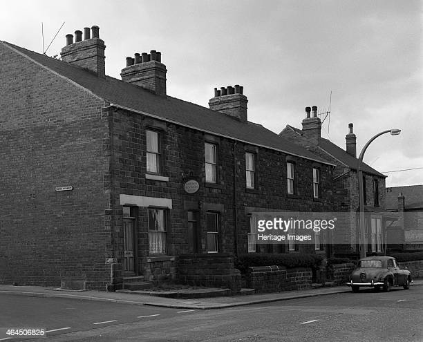 National Provincial Bank located in a terraced house Goldthope South Yorkshire 1963 The National Provincial Bank was formed in 1933 in an office in...
