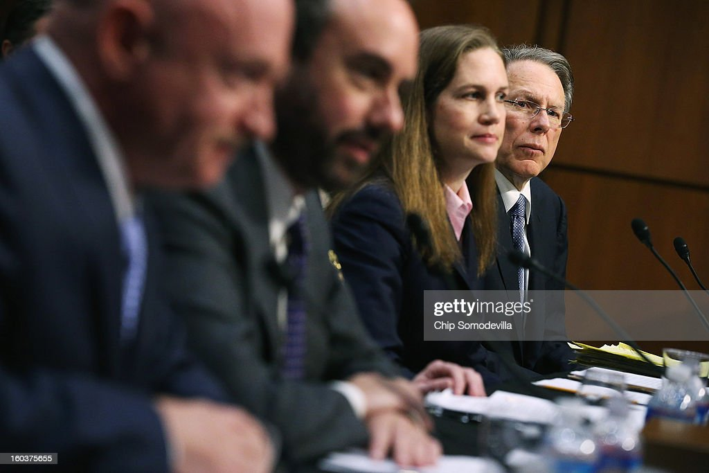 Senate Judiciary Committee Hears From Prominent Voices On Both Sides Of Gun Control Debate : News Photo