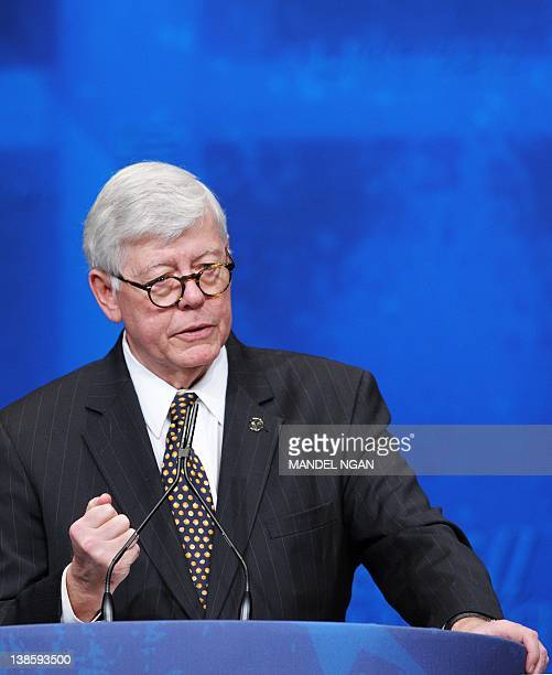 National Rifle Association President David Keene speaks during the presentation of the Defender of the Constitution award to Virginia Attorney...