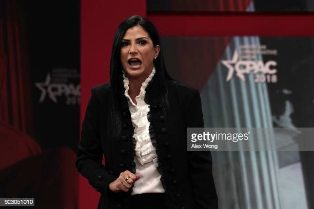 National Rifle Association spokeswoman Dana Loesch speaks during CPAC 2018 February 22 2018 in National Harbor Maryland The American Conservative...