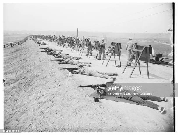 National Rifle Shoot, National Rifle Association matches, 27 September 1951. D.B Gingher;J.C Buchanan;Art Krause;L.N Phillips;Wayne Araxter;Mrs Leone...