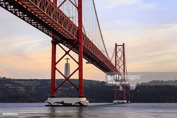 National Sanctuary of Christ the King, 25 de Abril Bridge, Ponte 25 de Abril, Belem, Lisbon, Portugal