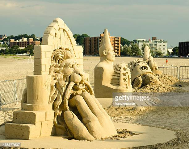 National Sand Sculpting festival on Revere beach