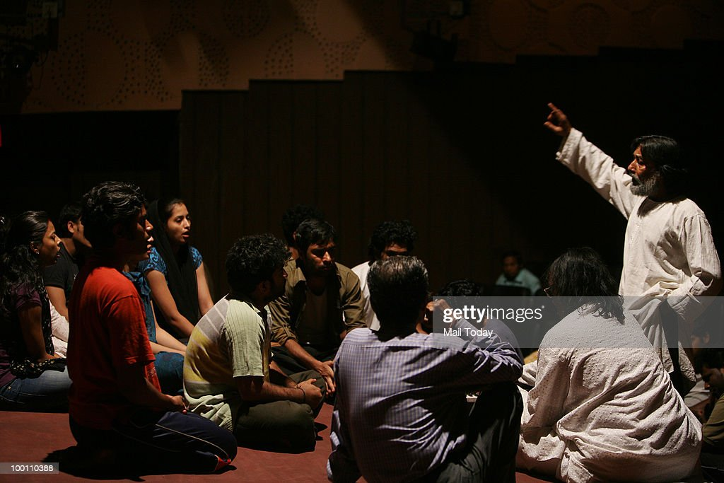 National School of Drama students rehearse for the play Edward II directed by Robin Das on May 19, 2010.