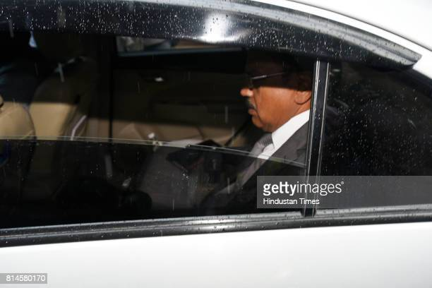 National Security Advisor Ajit Doval arrives at the all party meeting on July 14 2017 in New Delhi India