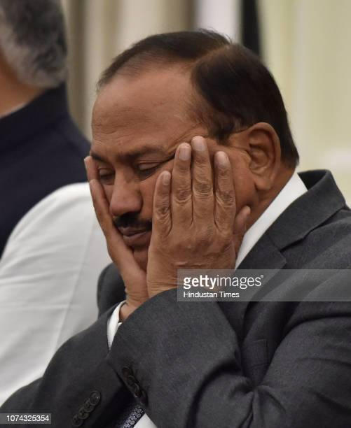 National Security Advisor Ajit Doval during a joint press statement between Prime Minister Narendra Modi and Maldivian President Ibrahim Mohamed...