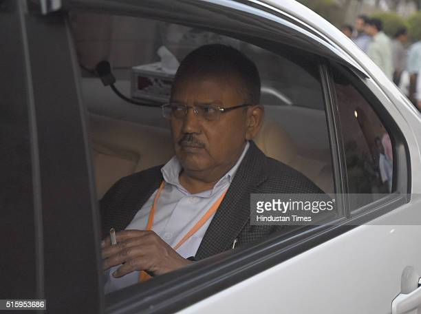 National Security Advisor Ajit Doval during the Parliament Budget Session on March 16 2016 in New Delhi India Just moments before it was adjourned...