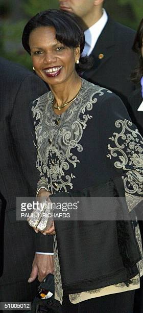 National Security Advisor Condoleezza Rice arrives for a State dinner at Topkapi Palace during the NATO Summit 28 June 2004 in Istanbul AFP...