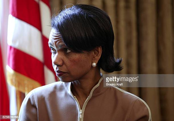 National Security Advisor Condoleezza Rice attends a meeting between President George W. Bush and Prime Minister of Malaysia, Abdullah Ahmad Badawi,...