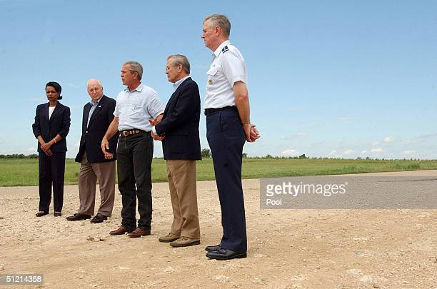 National Security Advisor Condoleezza Rice Vice President Dick Cheney President George W Bush Secretary of Defense Donald Rumsfeld and Joint Chiefs...