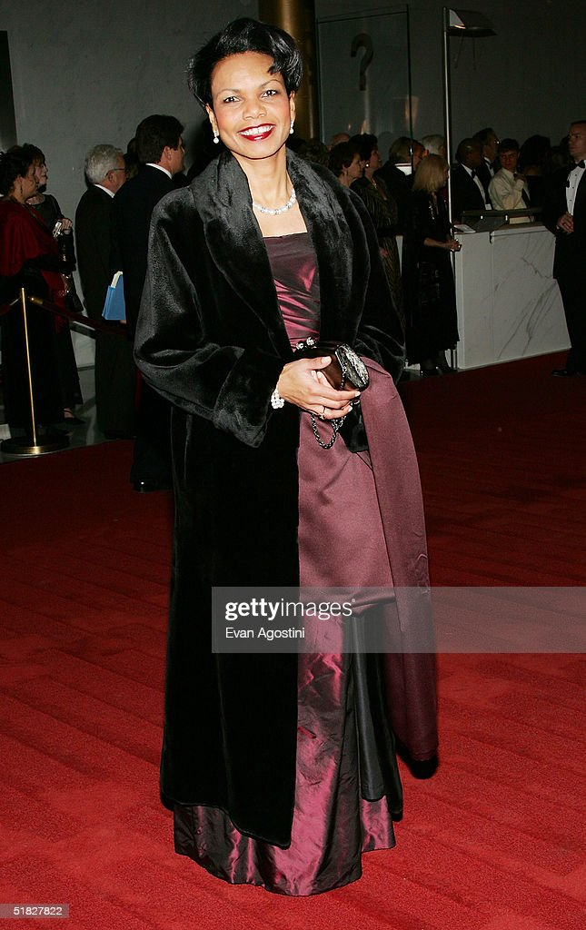 National Security Advisor Dr. Condoleezza Rice arrives at the 27th Annual Kennedy Center Honors Gala at The Kennedy Center for the Performing Arts December 5, 2004 in Washington, DC.