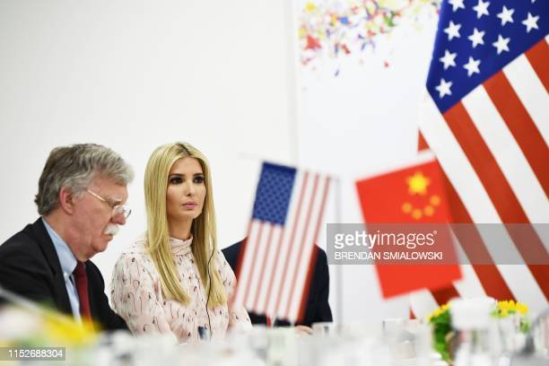 US National Security Advisor John Bolton and Advisor to the US President Ivanka Trump attend a bilateral meeting with Chinese President Xi Jinping...