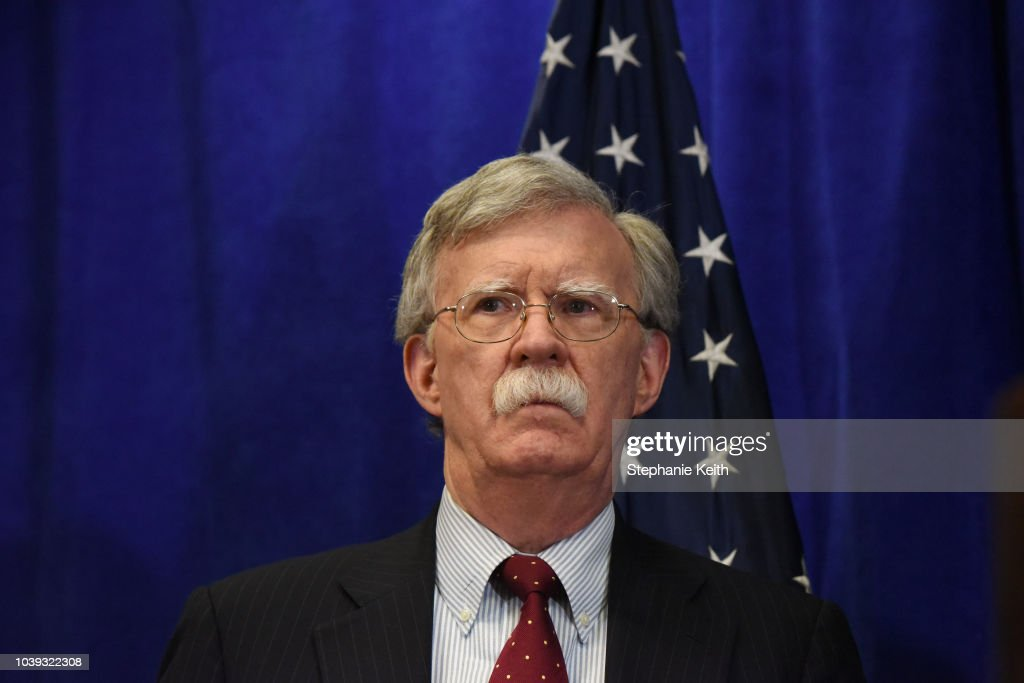 Secretary Of State Pompeo, John Bolton And Nikki Haley Brief Media During UNGA