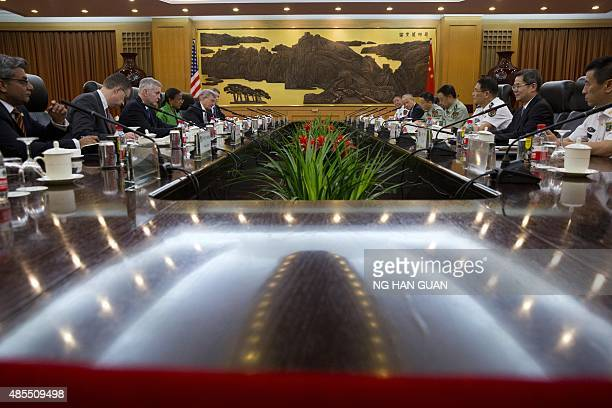 US National Security Advisor Susan Rice attends a meeting with Central Military Commission Vice Chairman Fan Changlong at the Chinese Ministry of...