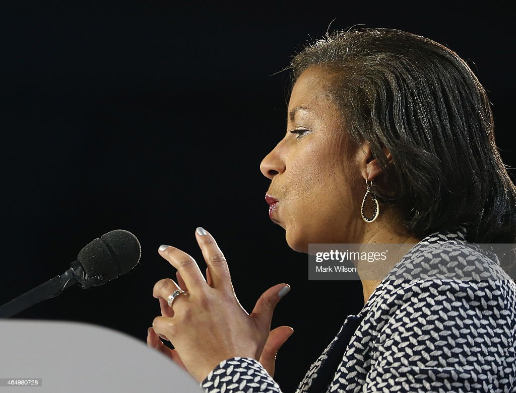 U.S. National Security Advisor Susan Rice speaks during the American Israel Public Affairs Committee (AIPAC) 2015 Policy Conference, March 2, 2015 in Washington, DC. Rice talked about Iran and its future nuclear capabilities.