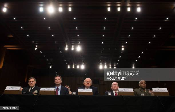 National Security Agency Director Adm Michael Rogers FBI Director James Comey Director of National Intelligence James Clapper CIA Director John...