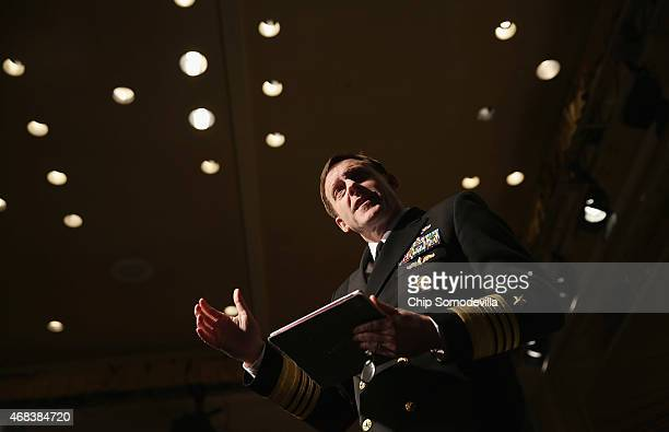 National Security Agency Director and US Cyber command Commander Admiral Michael Rogers takes questions during his keynote address to the Armed...