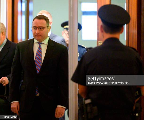 National Security Council Ukraine expert Lieutenant Colonel Alexander Vindman arrives to appear in closeddoor deposition hearing as part of the...