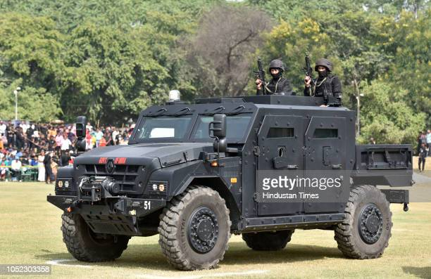 National Security Guard commandos during a function to celebrate the 34th NSG Raising Day at Manesar campus on October 16 2018 in Gurugram India
