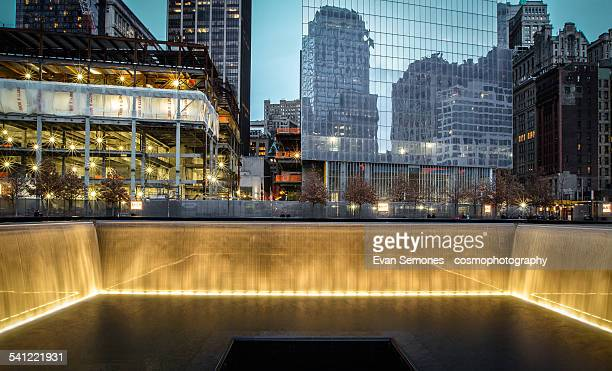 national september 11 memorial at night - tribute in light stock pictures, royalty-free photos & images