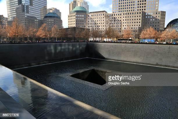 National September 11 Memorial Pool, New York City, Lower Manhattan, New York, USA