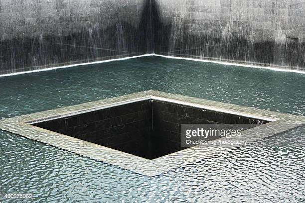 national september 11 memorial pool - reflection pool stock pictures, royalty-free photos & images