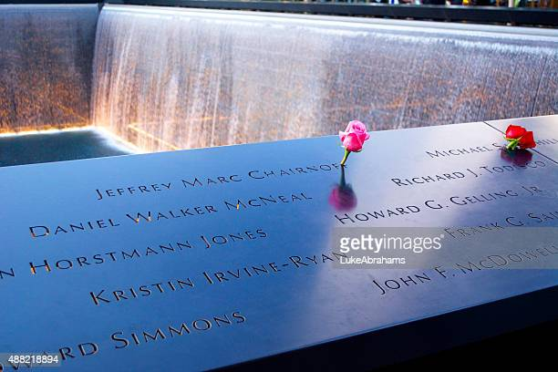 National September 11 Memorial with Flowers