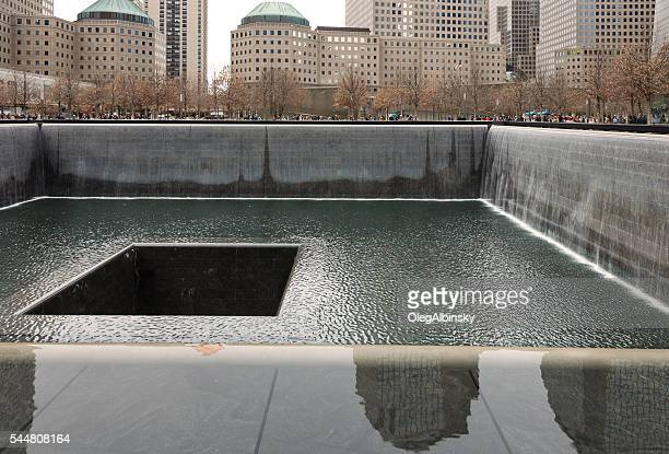 National September 11 Memorial, World Trade Center, Manhattan, New York.