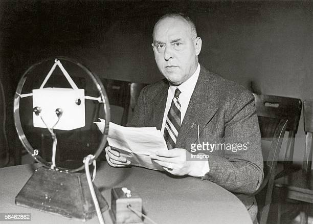 National Socialist Gregor Strasser talking at the microphone about the issue The Basic Ideas about the State in National Socialism Photography...