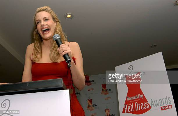 National Spokesperson for Go Red Daryl Hannah during Woman's Day Presents The Red Dress Awards New York at Light in New York City New York United...