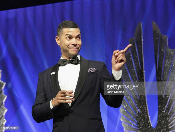 GLAAD national spokesperson Wilson Cruz adrresses the attendees during the 24th Annual GLAAD Media Awards at the Hilton San Francisco Union Square on...