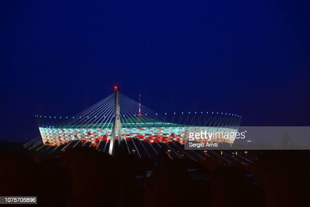 national stadium at night - sergio amiti stock pictures, royalty-free photos & images