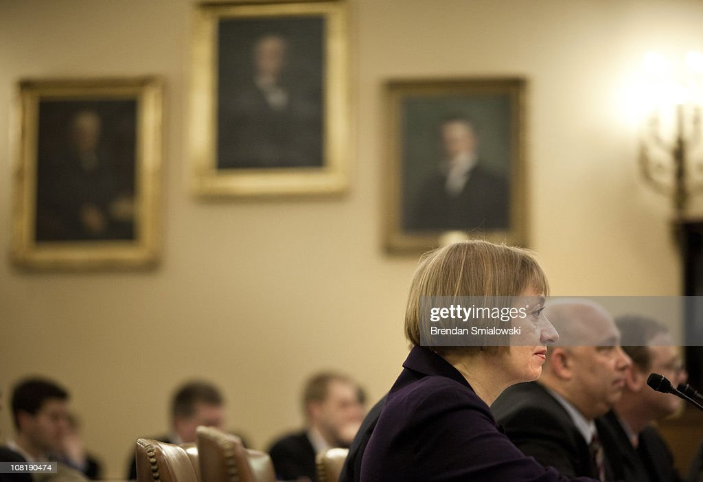 National Taxpayer Advocate Nina Olson listens during a hearing of the House Ways and Means Committee on Capitol Hill January 20, 2011 in Washington, DC. The Committee called business and tax leaders to testify about the effect of the Federal income tax on tax payers and the economy.
