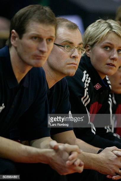 National team coach Jan Pytlick, Denmark - left assistantcoach Kim Jensen.