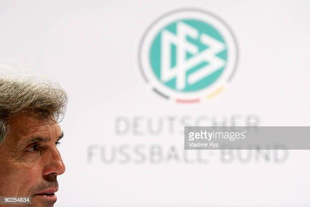 National Team head coach Rainer Adrion attends the German National Team press conference at Cologne's Guerzenich on September 1 2009 in Cologne...