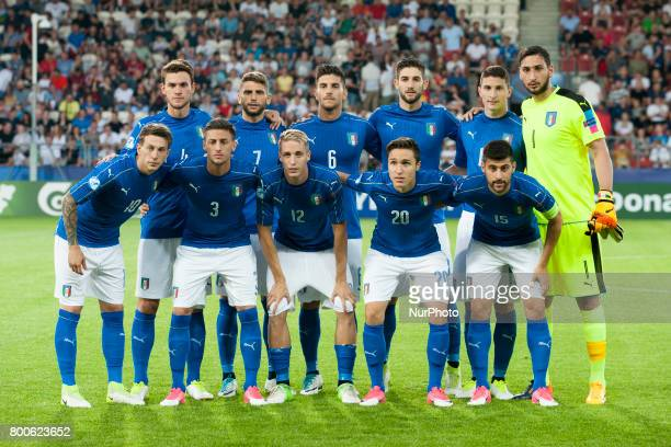 National team of Italy poses for photo during the UEFA European Under21 Championship 2017 Group C match between Italy and Germany at Krakow Stadium...