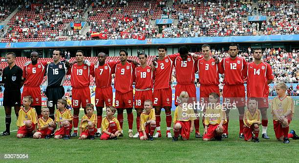 National team of Tunisia before the FIFA Confederations Cup Match between Argentina and Tunisia at the Rhein Energy Stadium on June 15 2005 in...