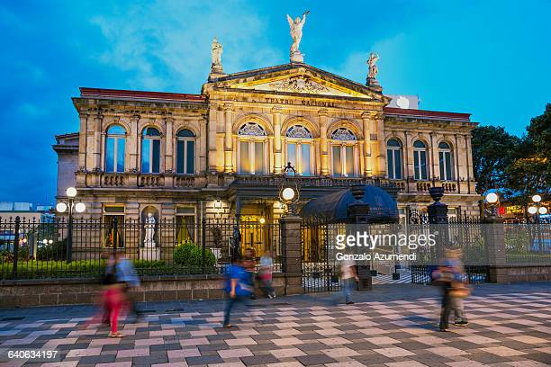 national theatre in san jose - costa rica stock pictures, royalty-free photos & images